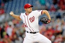 WASHINGTON, DC - MAY 11: Max Scherzer #31 of the Washington Nationals pitches in the first inning against the Detroit Tigers at Nationals Park on May 11, 2016 in Washington, DC. (Photo by Greg Fiume/Getty Images)