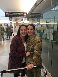 Welcoming Lindsey home from Jordan!