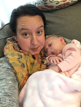 Cuddling my friend Melissa's baby girl!