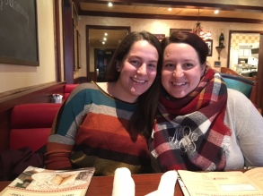Dinner with my sweet sister!