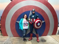 Meeting Captain America!
