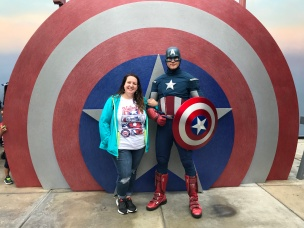 Meeting Captain America!