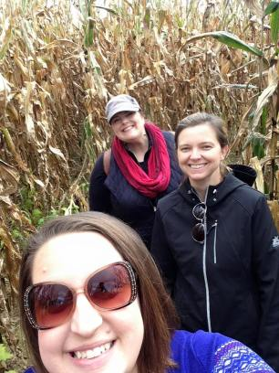 Lost in a corn maze!