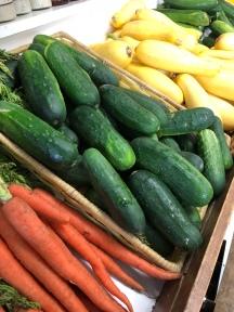 Veggies in a row!