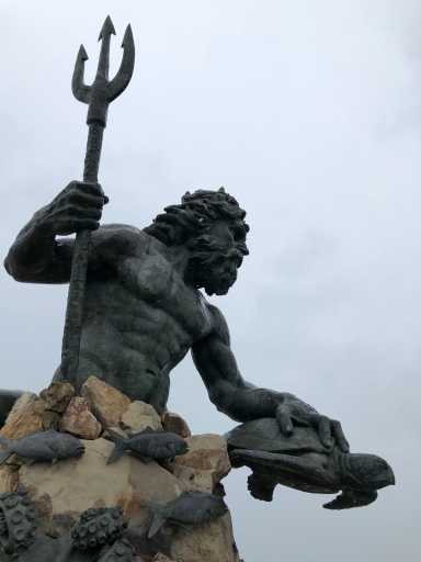 The god of the ocean...