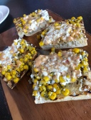 Fire Roasted Corn Relish Bruschetta