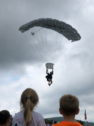 Parachuting - in a kilt!