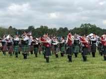 The bagpipes & drums!