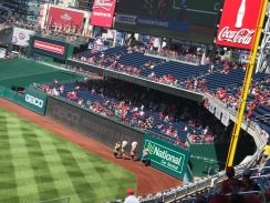 The Presidents race around the warning track...