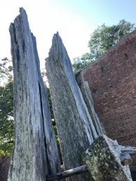 The fence around the fort.