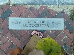 At the corner of Duke of Gloucester Street...