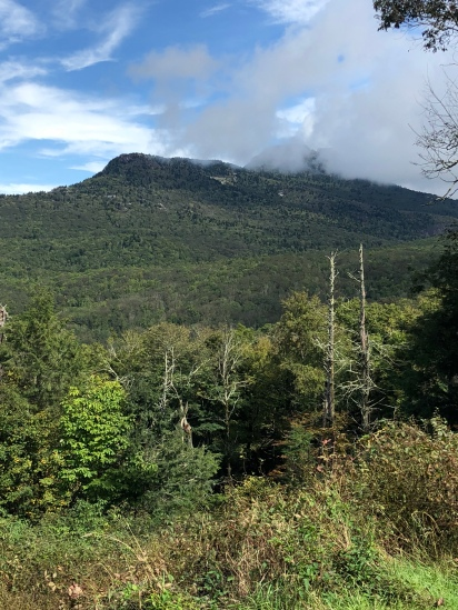 Grandfather Mountain in the haze...