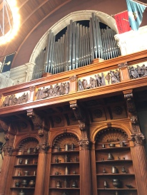 The pipe organ in the Banquet Hall