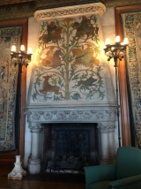 A fireplace in the Tapestry Room